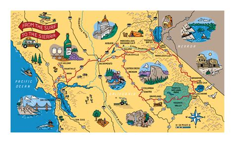 california map road trip maps tim carroll