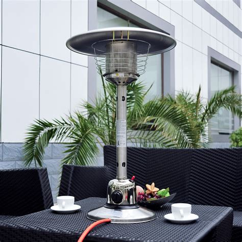New Table Top Gas Patio Heater Stainless Steel Outdoor Table Top Gas Patio Heaters