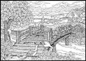 Detailed Landscape Coloring Pages For Detailed Coloring Pages Search Coloring Pages