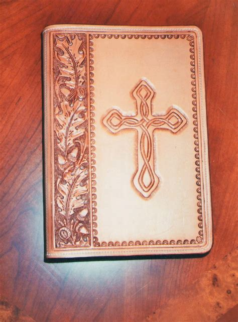 Handmade Bible - custom tooled leather bible cover