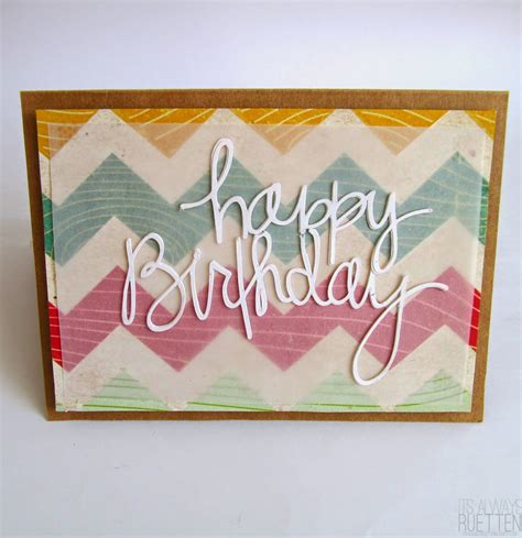 Happy Birthday Handmade - handmade happy birthday cards for friends