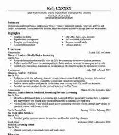 Financial Analyst Resume Exles by Best Financial Analyst Resume Exle Livecareer