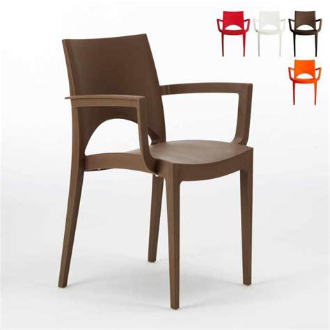 sedie grand soleil sedia con braccioli impilabile lavabile per cucina