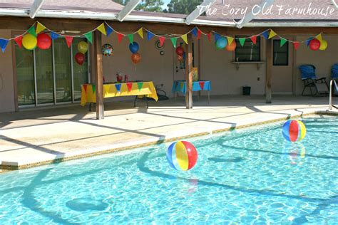 pool theme decorations the cozy quot farmhouse quot simple and budget friendly pool