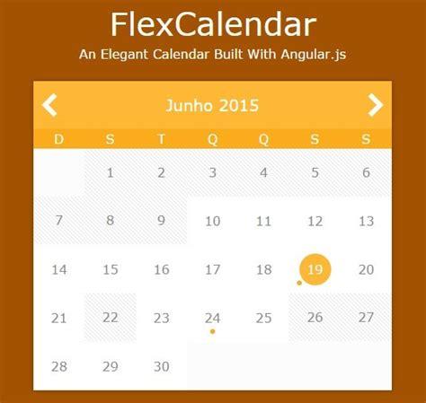 creating flexible calendar angularjs