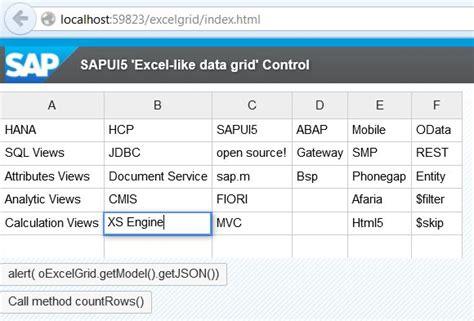 sapui5 sap ui layout grid excel like custom grid control in sapui5 openui5 sap blogs