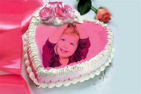Beautiful birthday cakes with photo edit