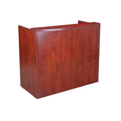 Glazed Reception Desk 48wx26dx41 5h Cherry Cherry Reception Desk