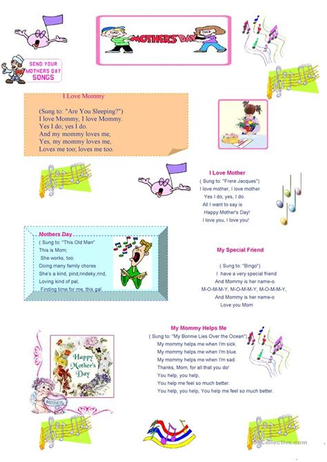 s day song worksheets s day songs worksheet free esl printable