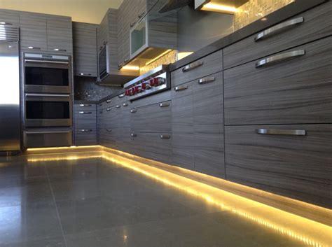 led kitchen under cabinet and toe kick lighting led toe kick lighting at kitchen yelp