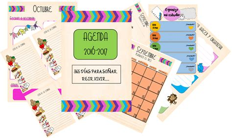 Calendario 2017 Editable My Agenda 2016 2017 Imprimible Y Editable