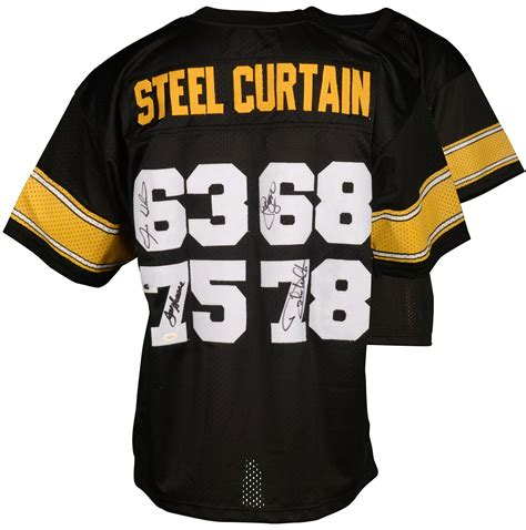 steel curtain jersey greene greenwood holes white autographed steel curtain