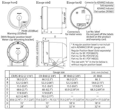 defi meter wiring diagram defi bf tachometer manual