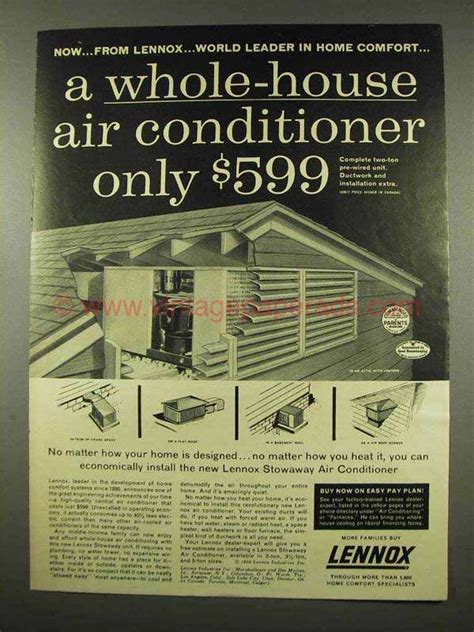 whole house air conditioner 1956 lennox stowaway air conditioner ad whole house