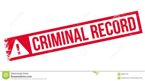 Consequences Of A Criminal Record Criminal Record Rubber St Stock Vector Illustration Of Factious Illegitimate
