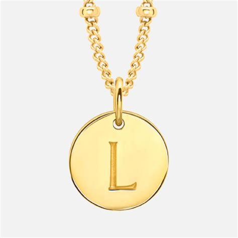 L Necklace missoma s initial charm necklace l gold