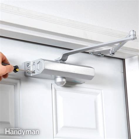 How To Fix Automatic Door Closer by Install A Hydraulic Door Closer The Family Handyman