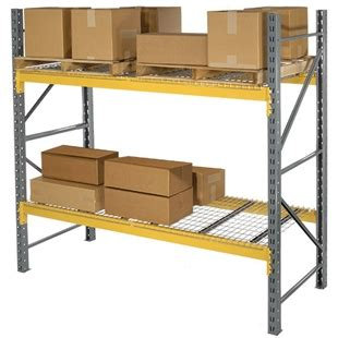 husky shelving parts 42 quot d x 72 quot h slotted pallet rack system starter unit wireway husky