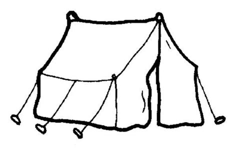 tent coloring page tent coloring pages