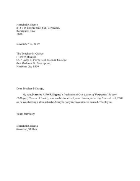 absent school letter template loginnelkrivercom