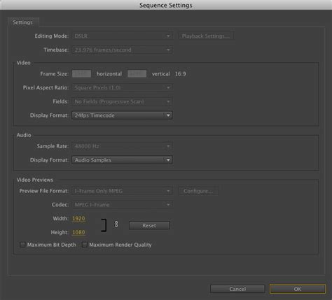 adobe premiere cs6 sequence presets unable to edit sequence settings in cs6 adobe premiere pro
