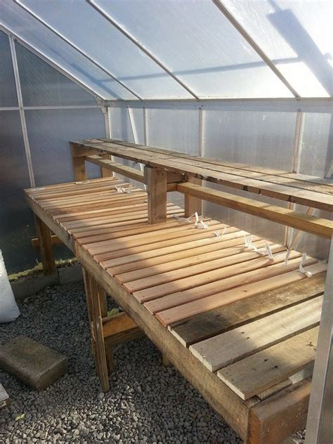greenhouse bench design best 20 greenhouse shelves ideas on pinterest