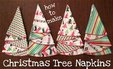then she made christmas tree napkins