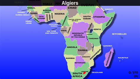 africa map countries quiz africa political map and of quiz roundtripticket me