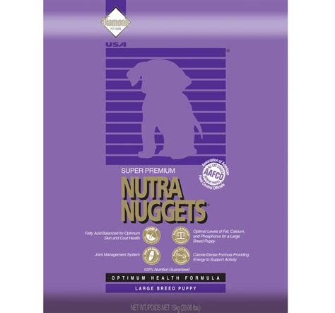 nutra nuggets food nutra nuggets large breed puppy food 3 kg dogspot pet supply store