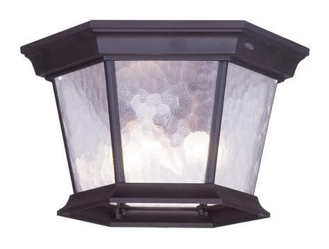 Hamilton Lighting Fixtures Livex Lighting 7510 07 Hamilton Outdoor Flush Mount Ceiling Fixture