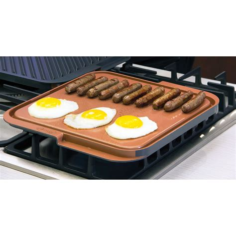 Teflon Grill the scratchproof nonstick sided griddle grill
