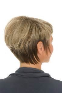 wedge haircut with stacked back back view of short stacked wedge haircut for women