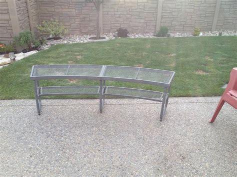 curved fire pit bench curved metal fire pit bench east regina regina