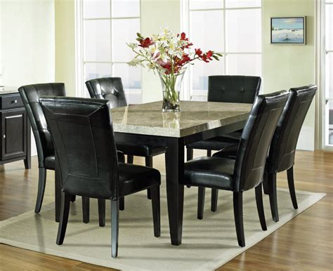 Dining Room Sets With Glass Or Marble Top Table Home Marble Top Dining Room Table Sets