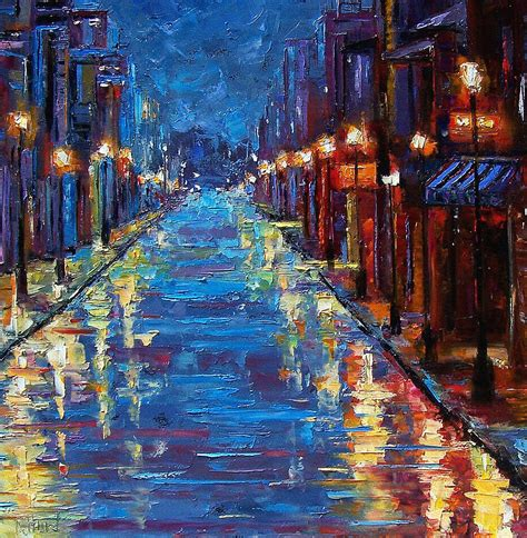 painting new new orleans bourbon painting by debra hurd