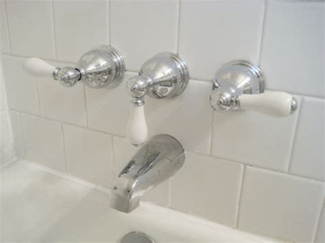 new bathtub faucet clean vintage bathroom tiles caulk more cleanly with