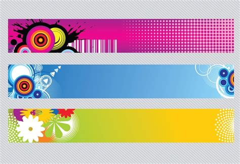 banner design with photoshop tutorial colorful banners vector free download