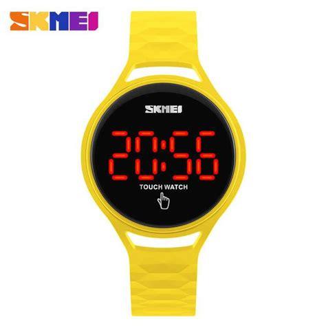 Jam Tangan Led Kuning jual jam tangan wanita skmei digital sport led touch
