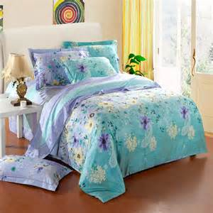Comforters Mint Green Mint Green Yellow And Lavender Purple Country Floral Print