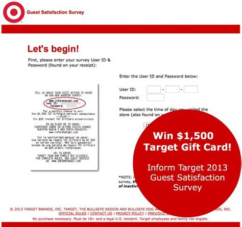 Family Dollar 500 Gift Card Survey - complete the inform target survey for a chance to win a 1500 target gift card plus