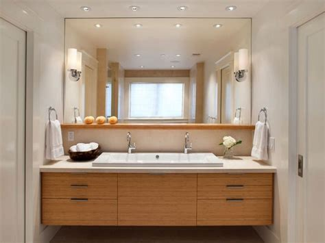large bathroom mirror with shelf vanity below large mirror i like the functionality of that