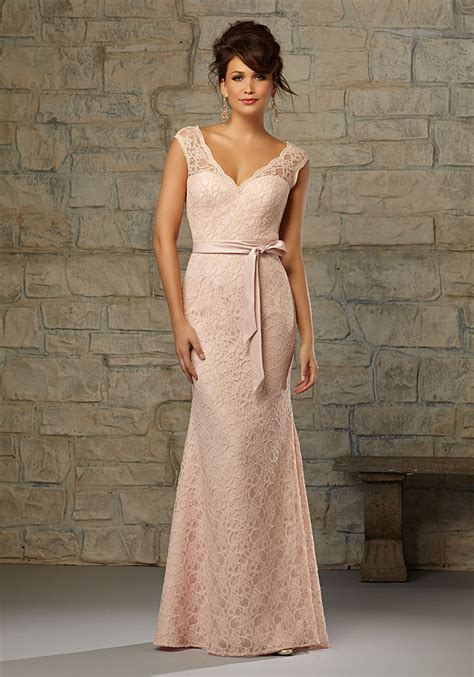 Lace Bridesmaid Dress by Lace Morilee Bridesmaid Dress With Matching Satin