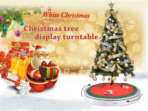 best decorations gift christmas tree display turntable stand