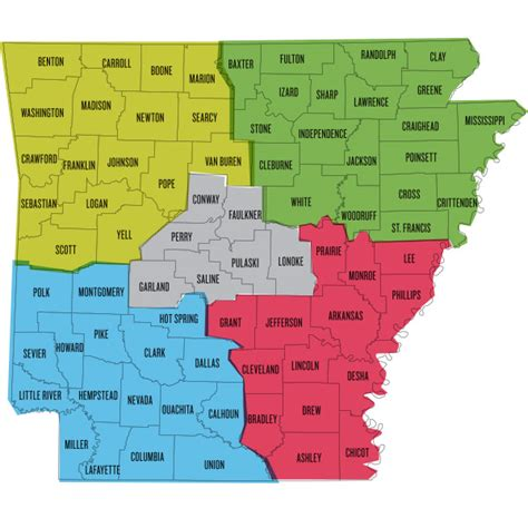 arkansas county map the thing to do in all 75 arkansas counties cover