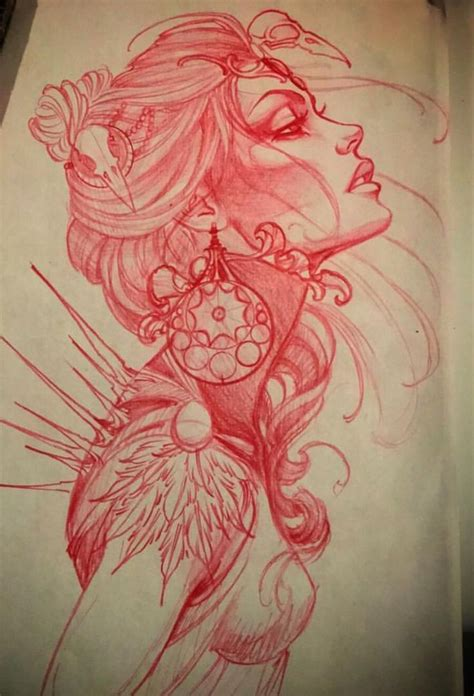tattoo girl drawing best 25 neo traditional ideas on pinterest neo