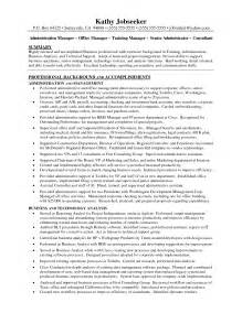 office administrator resume sles