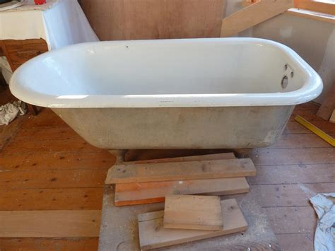 repaint a bathtub painting a clawfoot tub home restoration