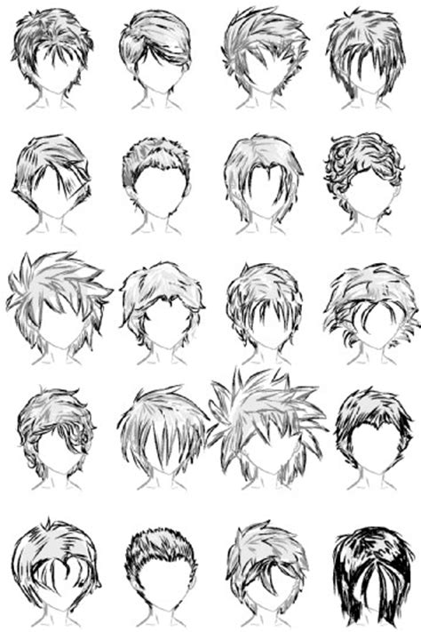 anime hairstyles medium hair reference for drawing short hair education pinterest