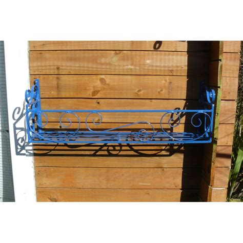 wrought iron window boxes uk window trough holder rack 24in wrought scrolled window box