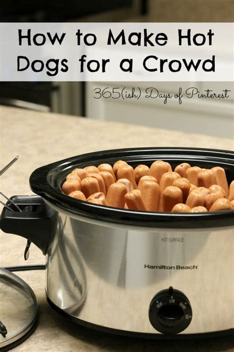 how to cook dogs in crock pot how to cook dogs for a crowd simple and seasonal